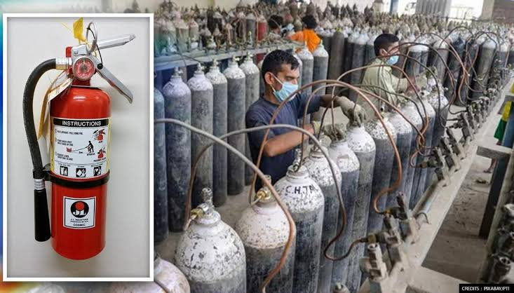 Three held for selling fire extinguishers as oxygen cylinders in Delhi